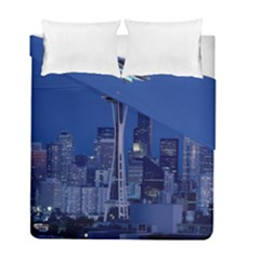 Space Needle Seattle Washington Duvet Cover Double Side (full/ Double Size) by Nexatart