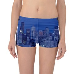 Space Needle Seattle Washington Reversible Boyleg Bikini Bottoms