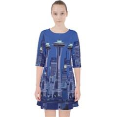 Space Needle Seattle Washington Pocket Dress by Nexatart