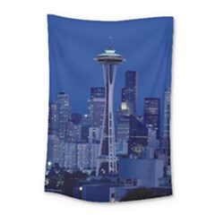 Space Needle Seattle Washington Small Tapestry by Nexatart