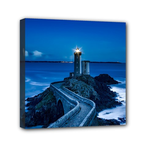 Plouzane France Lighthouse Landmark Mini Canvas 6  X 6  by Nexatart