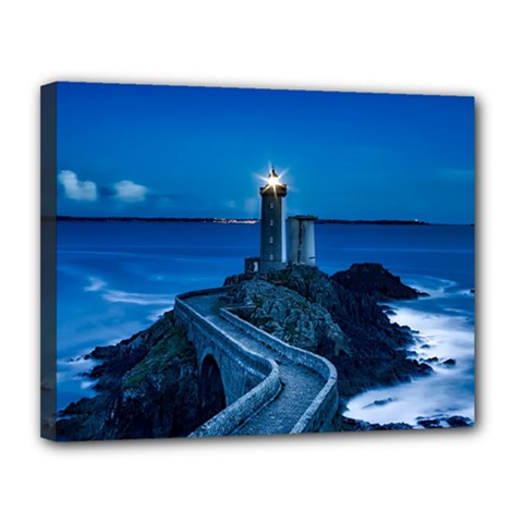 Plouzane France Lighthouse Landmark Canvas 14  X 11  by Nexatart