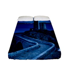 Plouzane France Lighthouse Landmark Fitted Sheet (full/ Double Size) by Nexatart