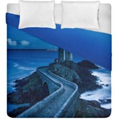 Plouzane France Lighthouse Landmark Duvet Cover Double Side (king Size)