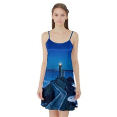 Plouzane France Lighthouse Landmark Satin Night Slip by Nexatart