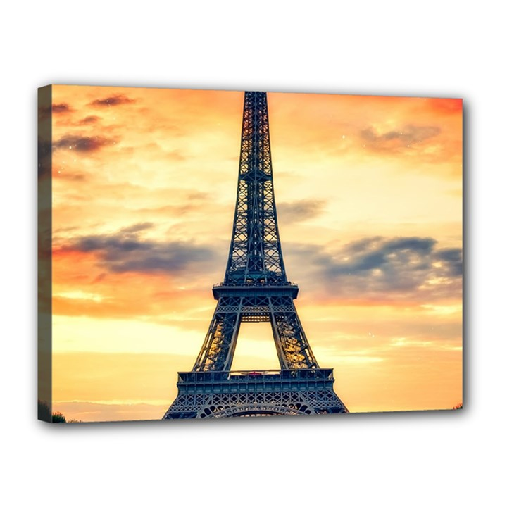 Eiffel Tower Paris France Landmark Canvas 16  x 12