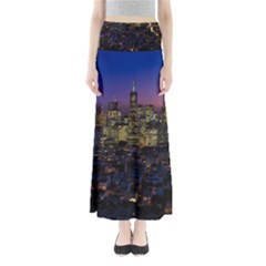 San Francisco California City Urban Full Length Maxi Skirt