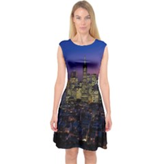 San Francisco California City Urban Capsleeve Midi Dress