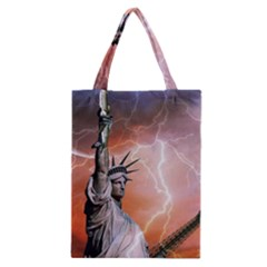 Statue Of Liberty New York Classic Tote Bag by Nexatart