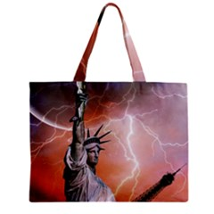 Statue Of Liberty New York Zipper Mini Tote Bag