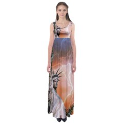 Statue Of Liberty New York Empire Waist Maxi Dress