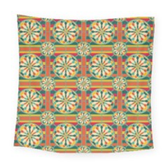 Eye Catching Pattern Square Tapestry (large) by linceazul