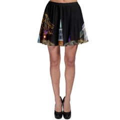 Church Decoration Night Skater Skirt