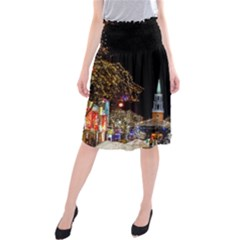 Church Decoration Night Midi Beach Skirt