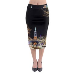 Church Decoration Night Midi Pencil Skirt