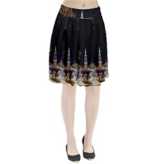 Church Decoration Night Pleated Skirt
