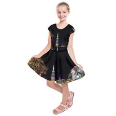 Church Decoration Night Kids  Short Sleeve Dress