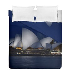 Landmark Sydney Opera House Duvet Cover Double Side (full/ Double Size) by Nexatart
