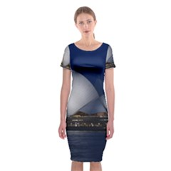 Landmark Sydney Opera House Classic Short Sleeve Midi Dress