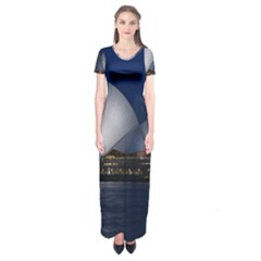 Landmark Sydney Opera House Short Sleeve Maxi Dress