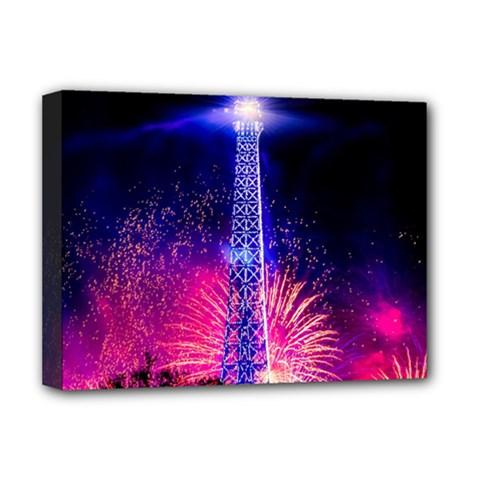 Paris France Eiffel Tower Landmark Deluxe Canvas 16  X 12   by Nexatart