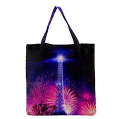Paris France Eiffel Tower Landmark Grocery Tote Bag