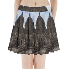 Prambanan Temple Indonesia Jogjakarta Pleated Mini Skirt