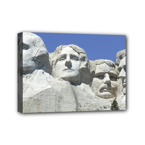 Mount Rushmore Monument Landmark Mini Canvas 7  X 5