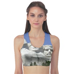 Mount Rushmore Monument Landmark Sports Bra by Nexatart