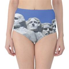 Mount Rushmore Monument Landmark High Waist Bikini Bottoms