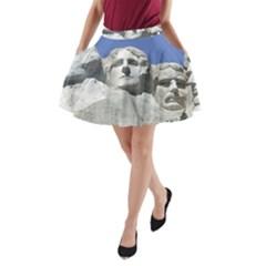 Mount Rushmore Monument Landmark A Line Pocket Skirt