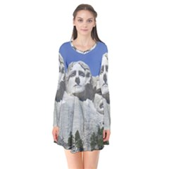 Mount Rushmore Monument Landmark Flare Dress