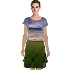 Landscape Sunset Sky Sun Alpha Cap Sleeve Nightdress