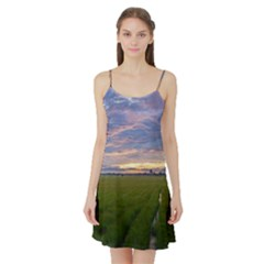 Landscape Sunset Sky Sun Alpha Satin Night Slip