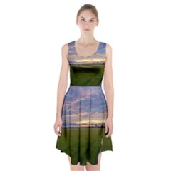 Landscape Sunset Sky Sun Alpha Racerback Midi Dress