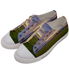 Landscape Sunset Sky Sun Alpha Women s Low Top Canvas Sneakers by Nexatart
