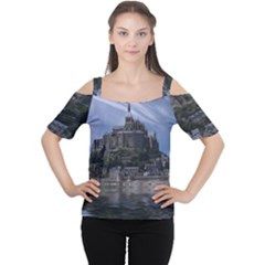 Mont Saint Michel France Normandy Cutout Shoulder Tee