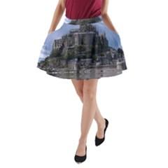 Mont Saint Michel France Normandy A Line Pocket Skirt