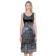 Mont Saint Michel France Normandy Midi Sleeveless Dress
