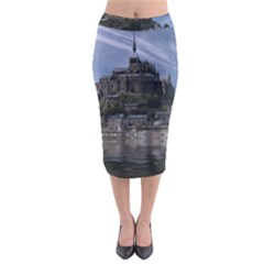 Mont Saint Michel France Normandy Midi Pencil Skirt