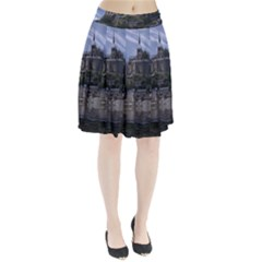 Mont Saint Michel France Normandy Pleated Skirt