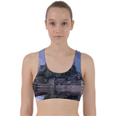 Mont Saint Michel France Normandy Back Weave Sports Bra by Nexatart