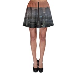 Paris France French Eiffel Tower Skater Skirt