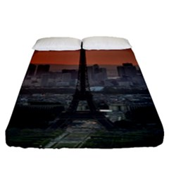 Paris France French Eiffel Tower Fitted Sheet (queen Size)