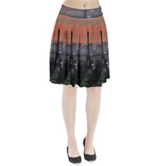 Paris France French Eiffel Tower Pleated Skirt