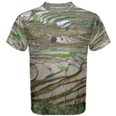 Rice Fields Terraced Terrace Men s Cotton Tee
