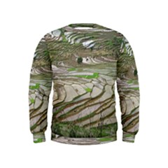 Rice Fields Terraced Terrace Kids  Sweatshirt by Nexatart