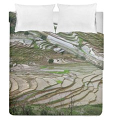 Rice Fields Terraced Terrace Duvet Cover Double Side (queen Size)