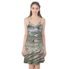 Rice Fields Terraced Terrace Camis Nightgown