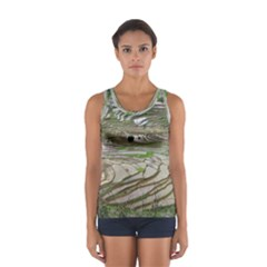Rice Fields Terraced Terrace Sport Tank Top